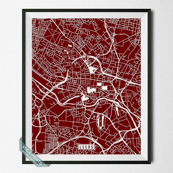 Leeds Poster England Poster Leeds Print Leeds Map by VocaPrints. - Prices start from $9.90 Shipping Worldwide! #vocaprints #wallart #walldecor #homedecor #decor #art #christmasgift #giftforher #giftforhim #mothersdaygift #fathersdaygift #babygift #poster #print #nurseryart #nurserydecor #holidaygift #giftidea #officedecor #babyshowergift #map #streetmap #mapart