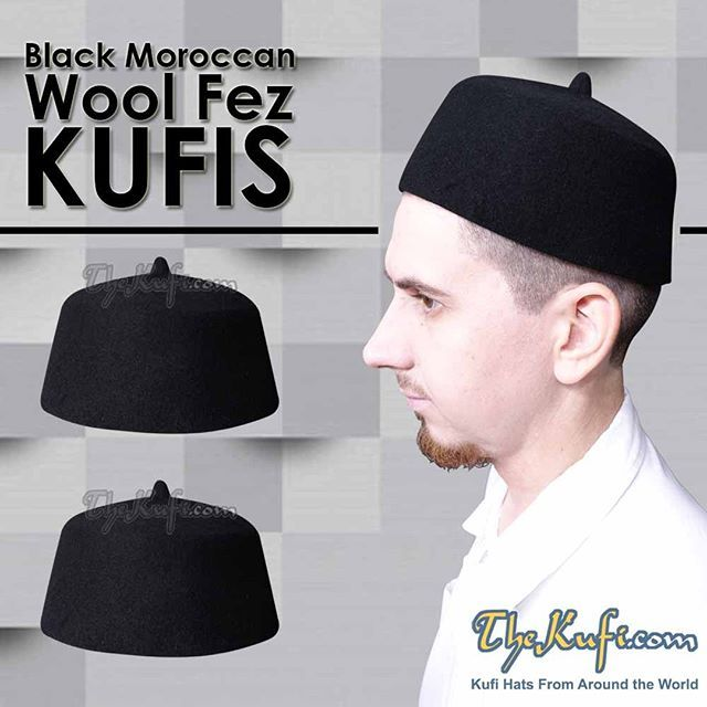 84c72abeb Felt 100% Wool Moroccan Fez Kufi Hats in Various Colors with FREE ...