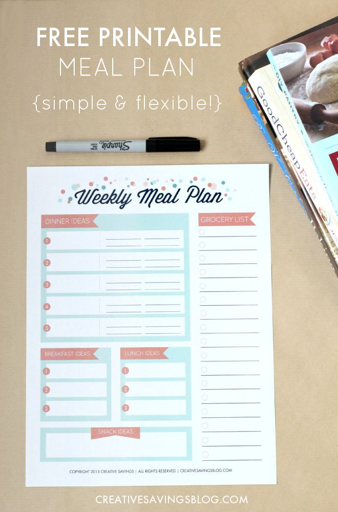 You don`t have to feel stuck with only ONE form of meal planning! This FREE meal planning printable allows for loads of flexibility and the freedom to choose each meal based how busy your day is, or tastes you`re craving.