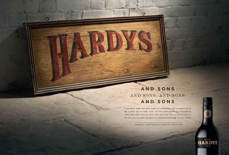 Hardys Wine: Sign