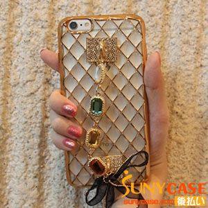お洒落 iPhone 携帯ケース シリコン製 アイフォン6sカバー 女性用 iPhone6plusケース チェーン 落下防止 ブレスレットデザイン