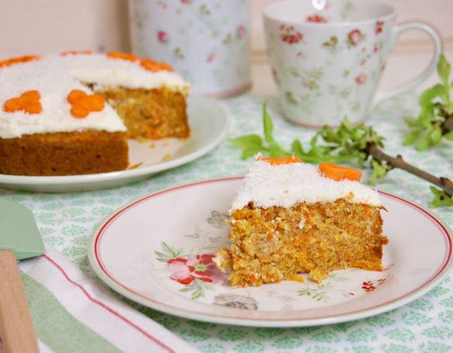 Vláčný mrkvový dort recept, carrot cake recipe