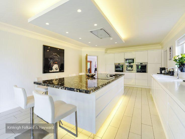 #white #spotlight #kitchenisland #kitchen #kfh