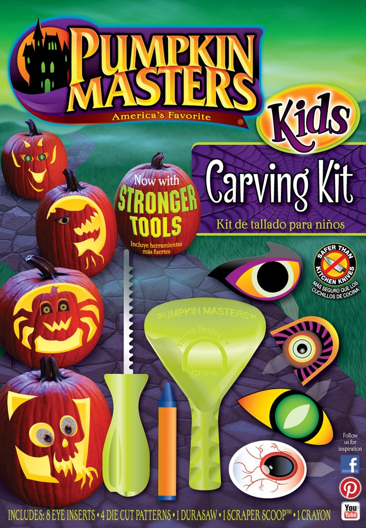 Pumpkin masters kids carving kit provides scary and silly