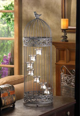 Birdcage Staircase Candle Stand Gorgeous Tea Light Birdcage Decor Wholesale Birdcage Cheap Bird Cage Centerpiece, 55% off | Recycled Bride