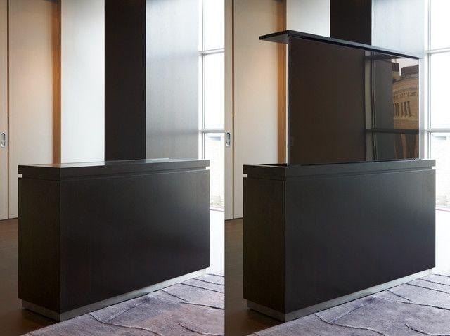 17 best hidden tv cabinet images on pinterest hidden tv for Tv lift consoles for flat screens