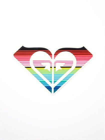 ROXY heart stickers