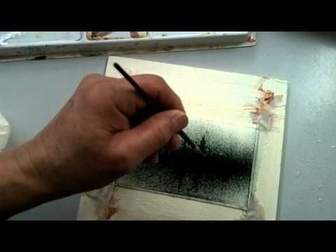 Painting fog wet on wet in watercolor. - YouTube