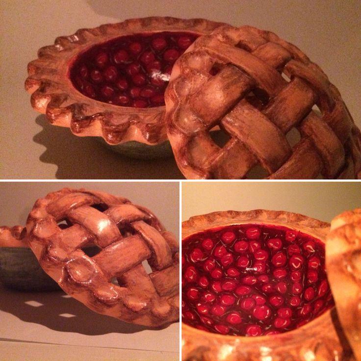Ceramic painting. Cherry pie!