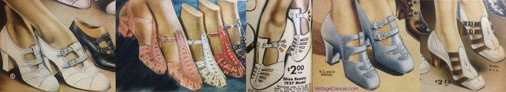 1930s Shoes History - 1930′s T Strap Shoes