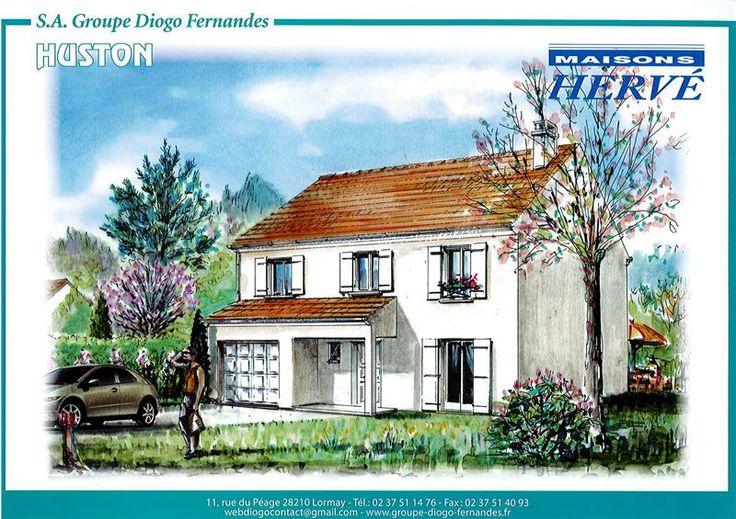 Plan Maison Houston 3 #maison #diogo http://www.diogo.fr/annonces-immobilieres/annonce/3/maison-5-piegraveces/