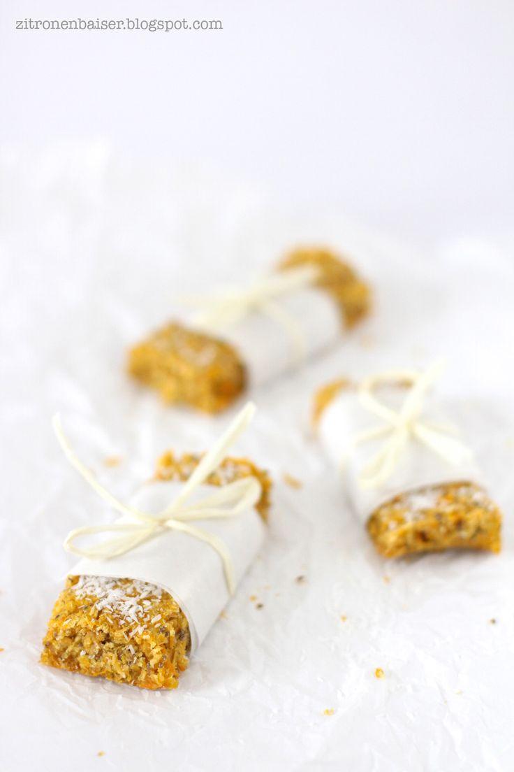 Rezept Möhren-Kokos-Müsliriegel mit Chiasamen Zitronenbaiser Foodblog