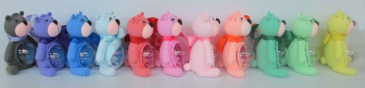 Foto osos colores pasteles del Foamy Moldeable PASCUA!