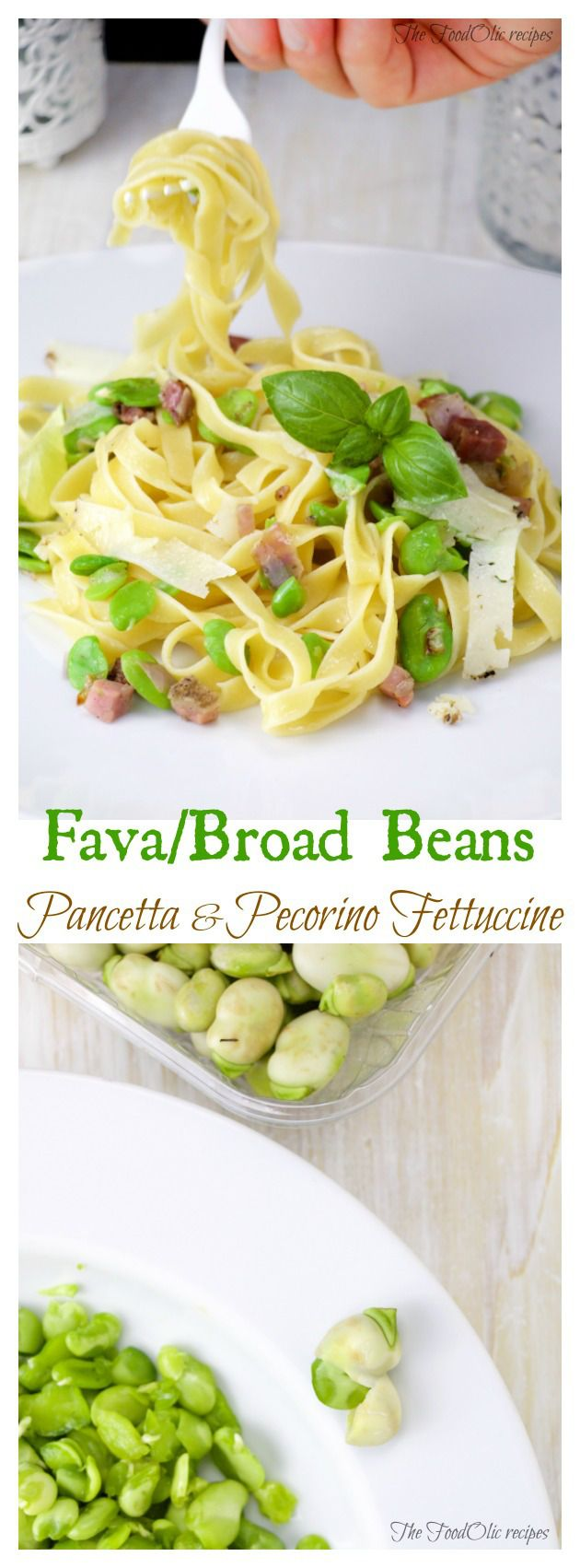 Fresh Broad Beans, cured pancetta and truffled pecorino fettuccine is the perfect spring dish. A mix of fresh ingredients for an delicate, fresh and elegant dish! #pasta #broadbeans #fava #italianfood #pancetta