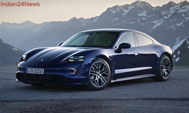The New Porsche Taycan Turbo Design In Blue Porsche Taycan New Porsche Porsche