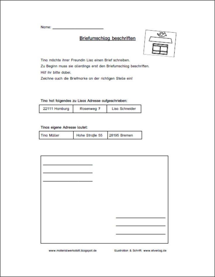 Arbeitsblatt Deutsch Brief Schreiben : Best brief schreiben images on pinterest letter