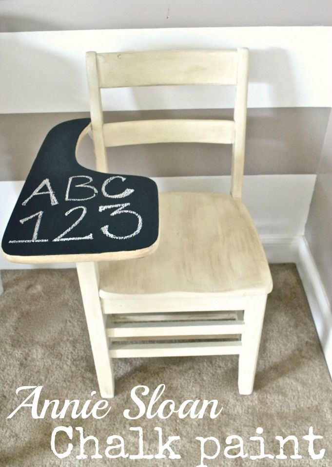 Annie sloan chalk paint vs. homemade chalk paint.  Great post! #chalkpaint: Paintings Furniture, Chalkpaint Review, Paintings Ideas, Chalkboards Paintings, Homemade Chalk Paintings, Annie Sloan, School Desks, Sloan Chalkpaint, Antiques Schools Desks