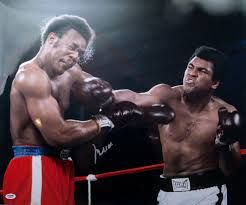 "On this day 40 years ago, one of the greatest fighters of all time Muhammad Ali defied all of the boxing odds and invented the ""Rope-A-Dope! Check it out...http://www.potshotboxing.com/?p=4126"