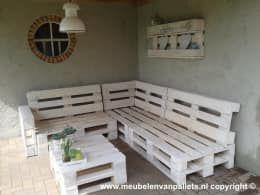 Giardino in stile in stile Industriale di Meubelen van pallets