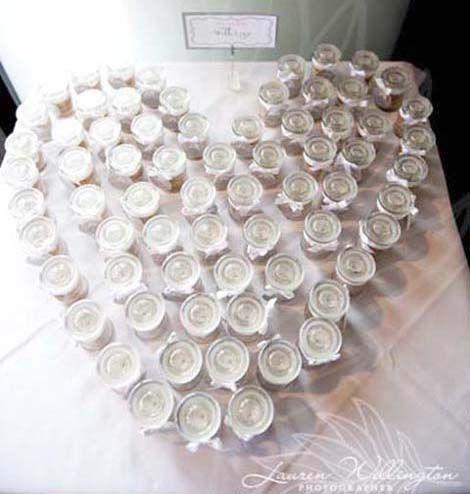 mini cookies in baby jar wedding bonbonniere    via polka.com.au