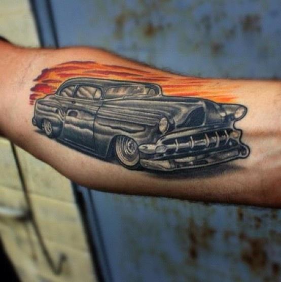 Hot rod tattoo tattoos pinterest for Hot rod tattoos