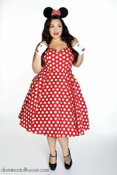 plus size halloween costume domino dollhouse minnie mouse maxie - Halloween Costume Plus Size Ideas