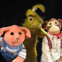 Pipkins another favourite children's programme - Hartley Hare, Pig and Topof the Monkey