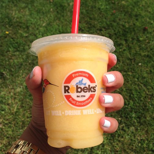 Because it's hot outside and you're thirsty. #Robeks #smoothie