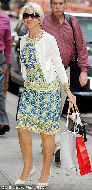 Seeing double: Helen Mirren was quite taken by an outfit she wore for a TV appearance in N...