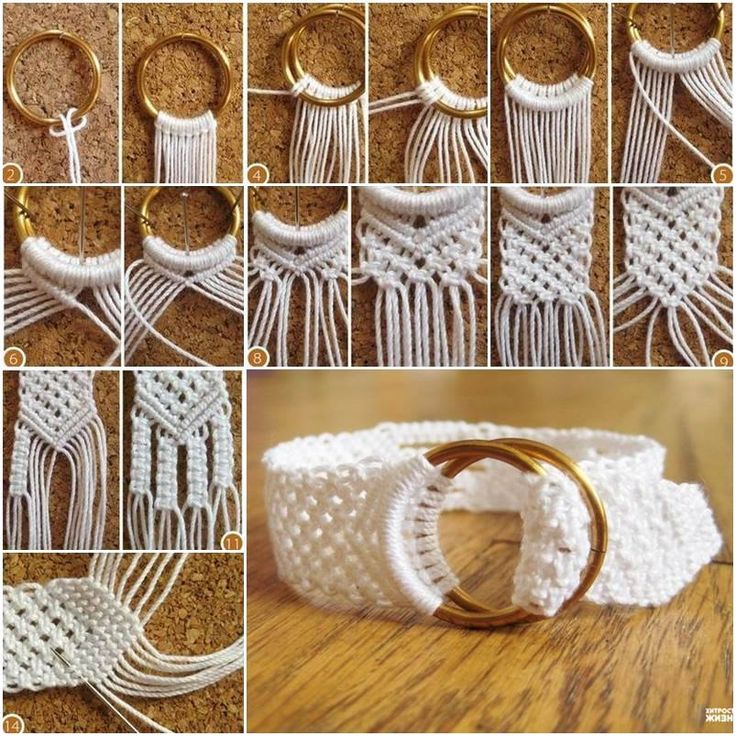 DIY Cotton Macrame Bracelet #diy #crafts #bracelet