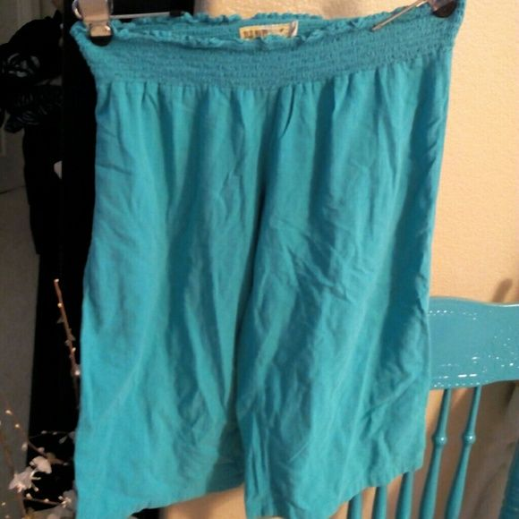 Beach Turquoise Shorts Size Large / Low Waist/ 100% Cotton ❤️️️️Trade $10❤️ Old Navy Swim Coverups
