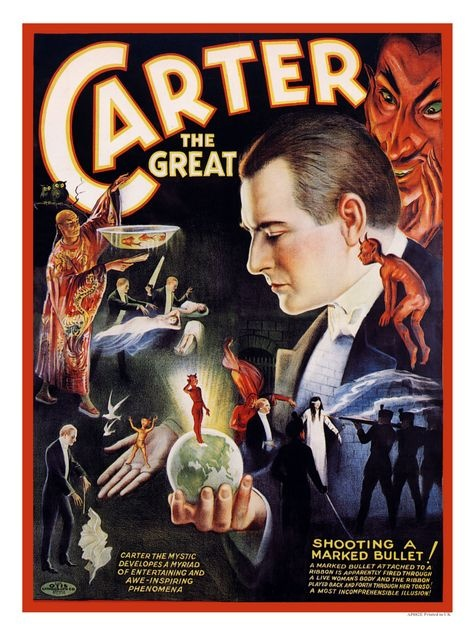 Charles Joseph Carter (June 14, 1874 – February 13, 1936) was an American stage magician, also known as Carter the Great. Carter's first theatrical experience occurred at the Herzog's museum and Pat Harris' Masonic Temple in Baltimore at the age of 10, where he appeared as Master Charles Carter the Original Boy Magician.  Carter purchased the famous Martinka Magic Palace in 1917, a time when he was unable to continue his world touring magic show.