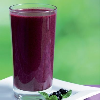 Blueberry, coconut and banana smoothie. For the full recipe, click the picture or visit RedOnline.co.uk