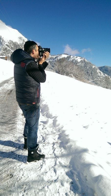 The photographer behind all these photos - chefs day off, Chatel