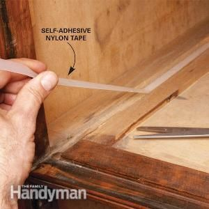 How to Fix Sticking Wooden Drawers: Paraffin or nylon tape keeps wooden drawers from sticking. Read more: http://www.familyhandyman.com/woodworking/furniture-repair/how-to-fix-sticking-wooden-drawers/view-all