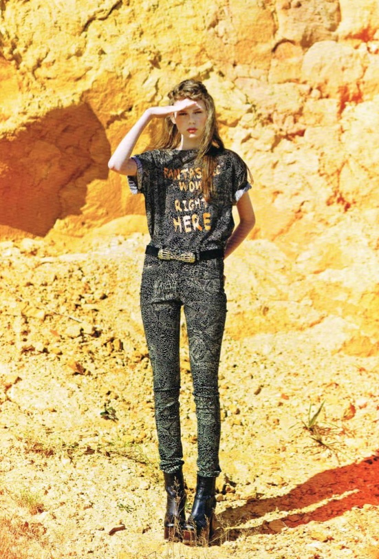 THE WOWEE TEE & YARD PANTS IN MATRIX & THE HANDS ON BELT IN LADY GUNN MAGAZINE!