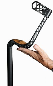 Ganymed Low Impact Crutches  Shape looks interesting, but also looks fragile