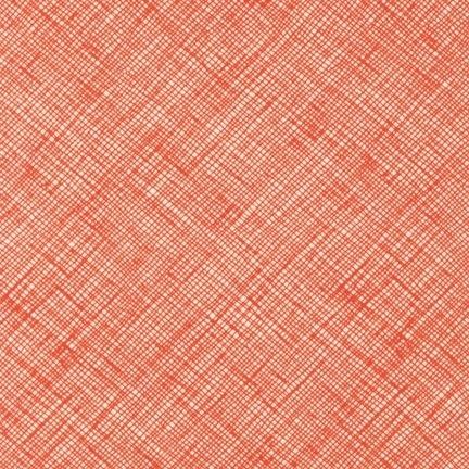 Sew Modern : Carolyn Friedlander - Architextures - Crosshatch - Tangerine