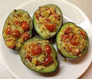 the green cottage recipe box: Baked Stuffed Avocados