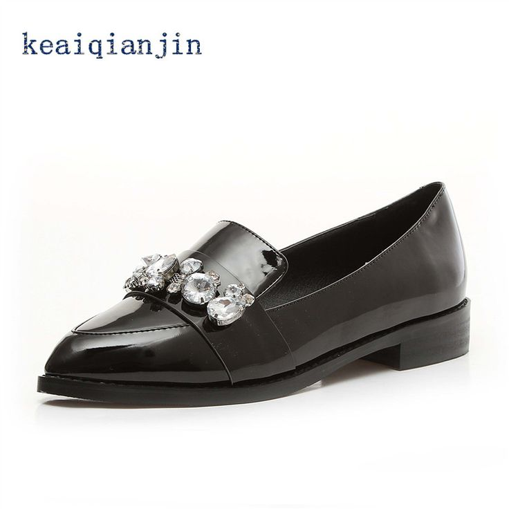 Shoes Fashion Rhinestone Flats Loafers Pointed Toe Chinese