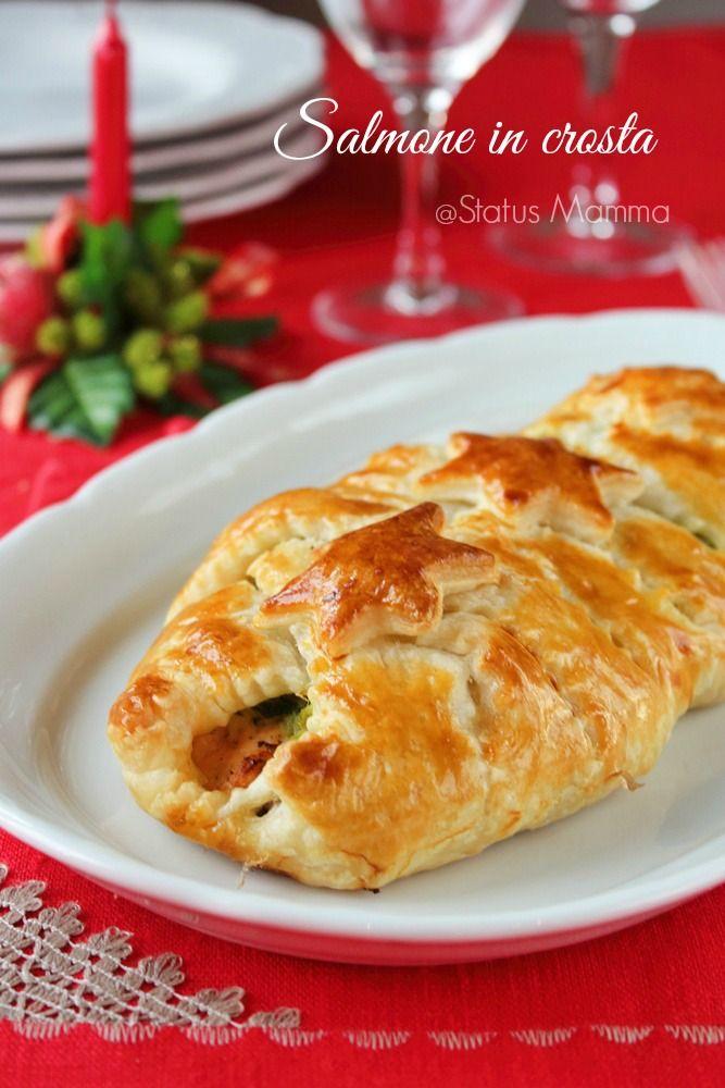 Salmone in crosta ricetta di Natale secondo cucinare semplice veloce economico Giallozafferano foto blog tutorial pasta sfoglia passo passo Statusmamma economico