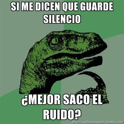 guardar silencio! xD