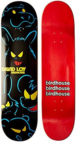 Birdhouse Skateboards David Loy Bad Animal Deck, 8-Inch: Pro quality 7 ply Canadian maple skateboard deck Great deck for skaters just…