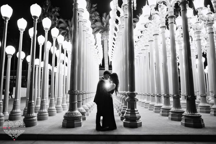 los angeles engagement photography, urban engagement session, los angeles wedding photography, kim le photography, LACMA engagement photogra...