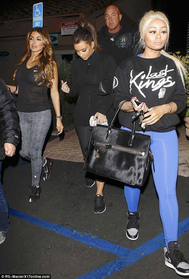 Dancing queens: Kim Kardashian, Larsa Pippen and Blac Chyna on a fitness mission