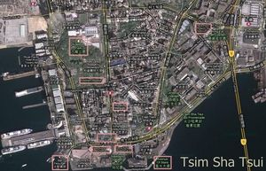 Map of Tsim Sha Tsui in Hong Kong: Tsim Sha Tsui Tourist Map