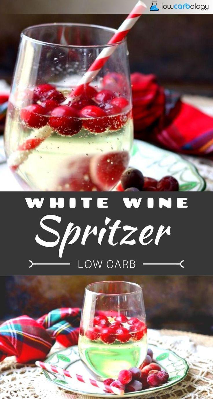 Leicht Und Prickelnd Ist Dieser Kohlenhydratarme Weissweinschorle Ein Erfrischender Cocktail White Wine Spritzer Wine Spritzer Low Carb Recipes Dessert