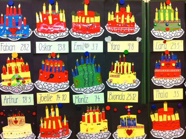Geburtstagstorten Klasse 3