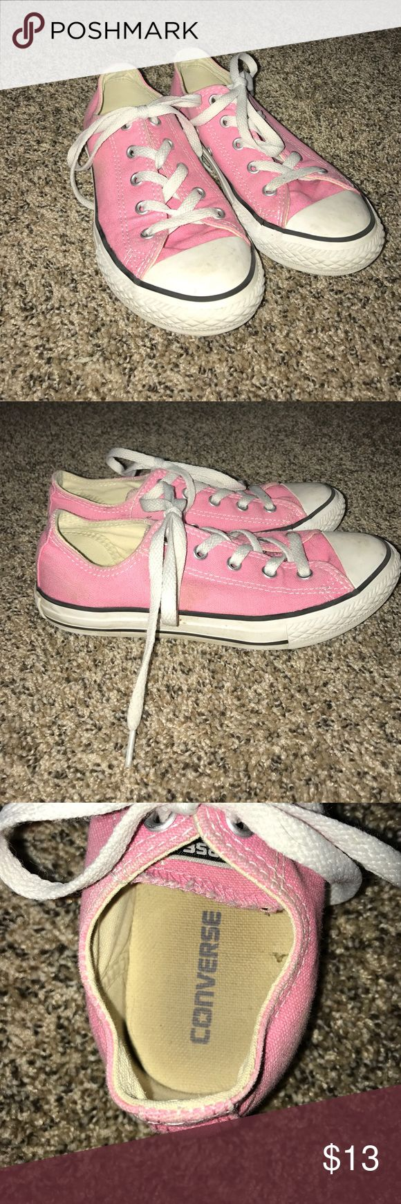 Converse pink kids shoes Pink white and black converse shoes for kids not new but not worn a lot Converse Shoes Sneakers