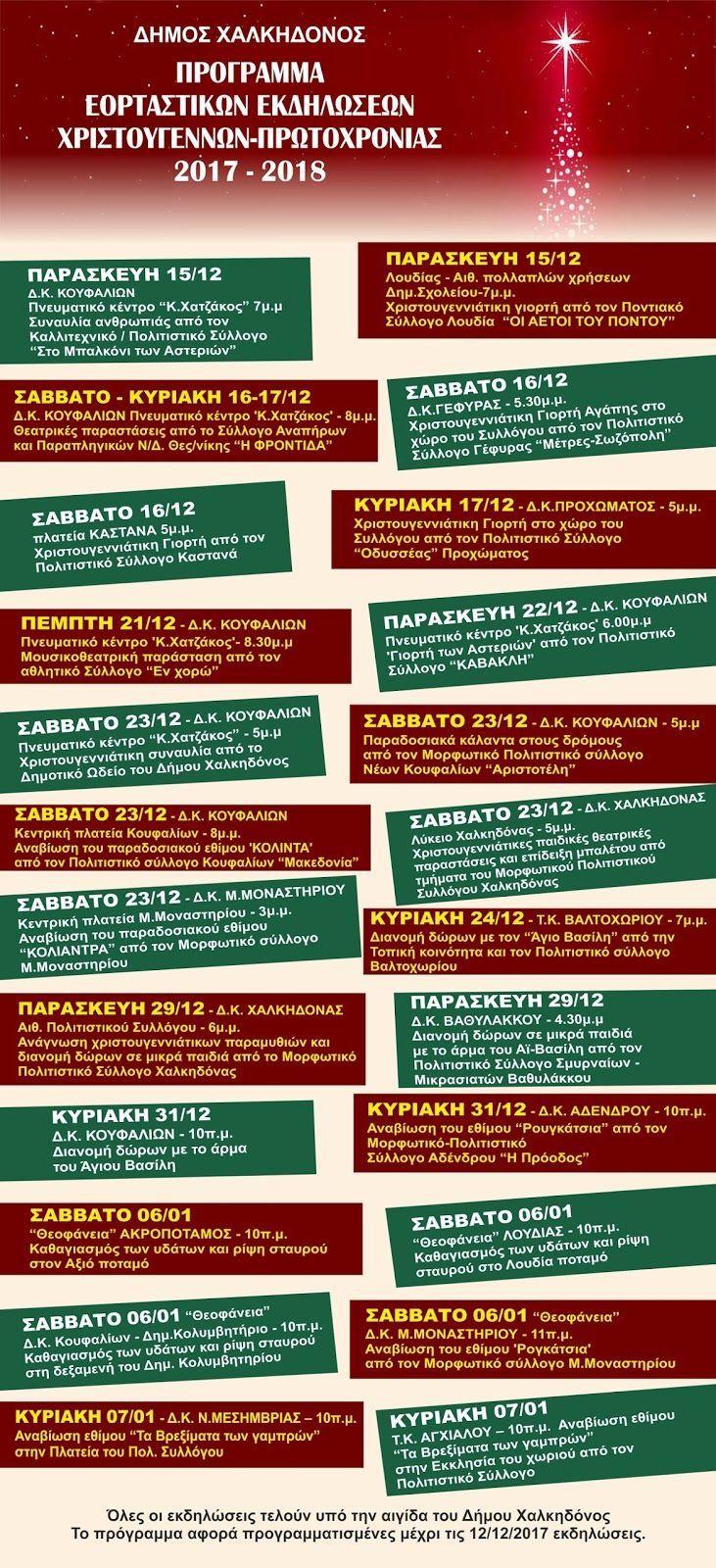 ΣυνΔΗΜΟΤΗΣ: Πρόγραμμα Εορταστικών Εκδηλώσεων Χριστουγέννων - Π...